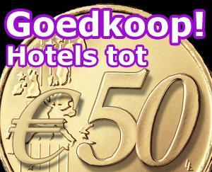 Goedkope hotels: 1 nacht tot 50,-